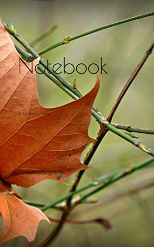 Logo President Series - Notebook: Autumn leaf withered dry vein pattern twig season