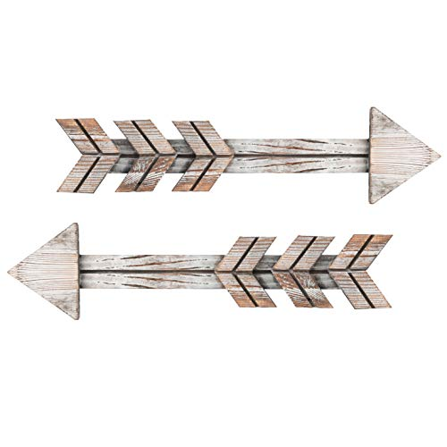 Mokof Wooden Arrow Wall Decor (Vintage White)