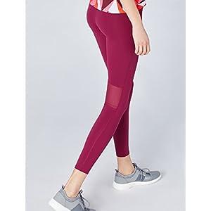 Activewear Leggings Sportivi con Inserti in Mesh Donna