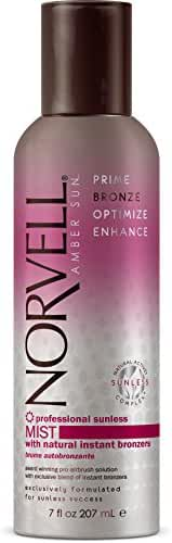 Norvell Professional Sunless Mist - Airbrush Tanning Solution with Bronzer, 7 fl.oz.