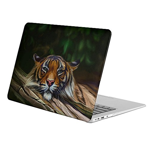"KoolMac [ Full Body Hard Case ] [ Apple Old Macbook Pro 15.4-inch 15.4"" with Retina Display (Model: A1398) ] - Artistic Painting Animal Tiger Big Cat Face Predator (Pro Armor Predator)"