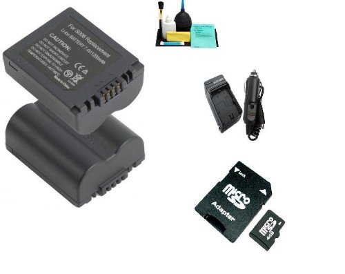 Extended Life Replacement Battery Pack For The Panasonic CGR-S006A/1B 1000MAH Plus Panasonic DE-993A DE-993B DE-994 DE-A43B 110/220V 1 Hour Home & Car Charger + 4gb Memory Card For Panasonic Lumix DMC-FZ30 DMC-FZ35 DMC-FZ38 DMC-FZ50 DMC-FZ7 DMC-FZ8 DMC-FZ