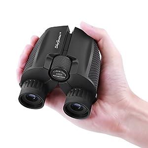 SkyGenius 10×25Compact Binocularsfor Bird Watching,High PoweredBinoculars Pocket Sizefor Theater,Concerts, Travel, BAK4 Roof Prism FMC Lens Binocularsfor Adults Kids