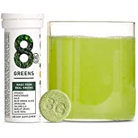 8Greens Effervescent Super Greens Dietary Supplement - 8 Essential Healthy Real Greens in One (1 Tube / 10 Tablets)