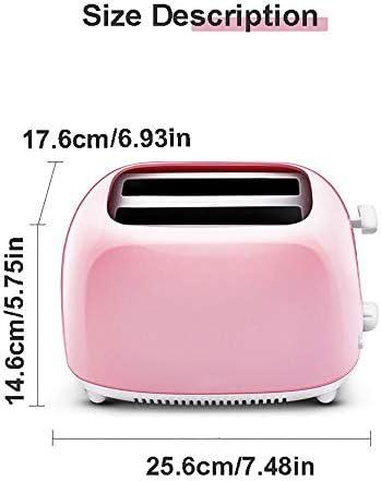 2 Scheiben Automatik Toaster, Rosa Toaster Langschlitz, Abbrechen mit Einem Klick Sandwich Toaster mit KrüMelschale Wird zur Herstellung Von Brotsandwiches Verwendet