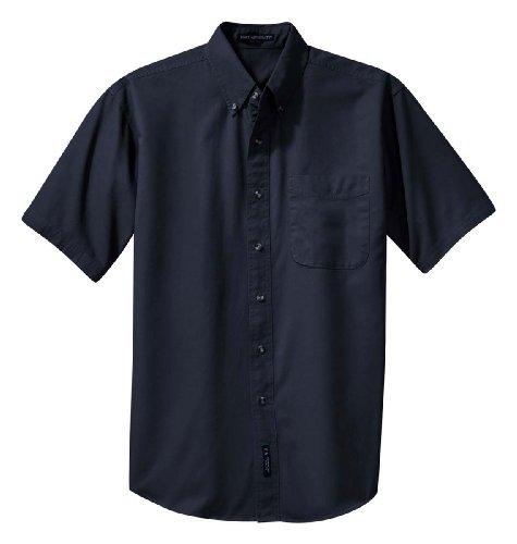 Port Authority Short Sleeve Twill Shirt, Classic Navy, Large
