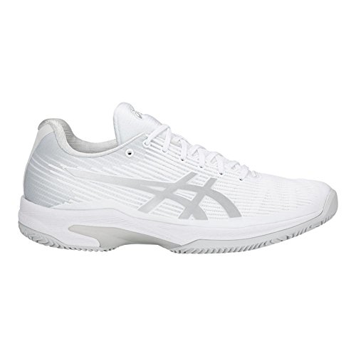 Womens Shoe Clay White Size Speed 8 Tennis Silver Solution FF ASICS gdRqPwR