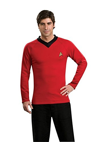 Star Trek Classic Red Shirt Deluxe Costumes (Star Trek Classic Red Shirt Deluxe Mens Costume - Sizes S-M-L-XL)
