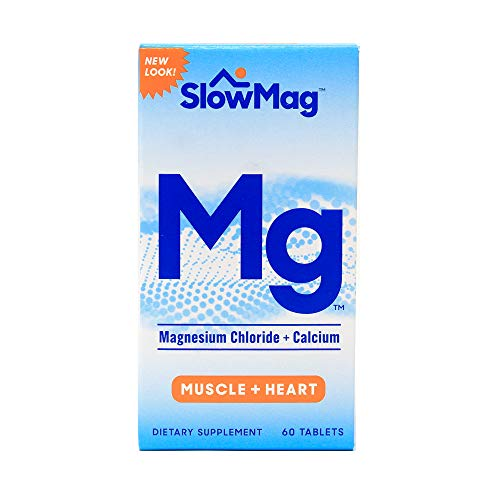 Slow-Mag Slow-Mag Magnesium Chloride With Calcium, 60 tabs (Pack of 3) Packaging may vary