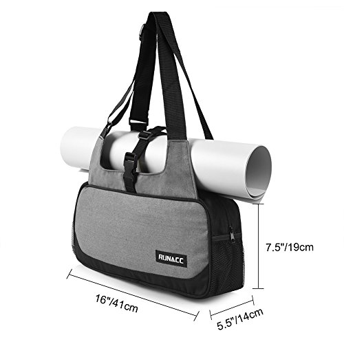 RUNACC Stylish Yoga Mat Bag with Mat Strap holder Pilates Clothing and Gym  Accessories Carrier for Women fa7fcd7aac1d5