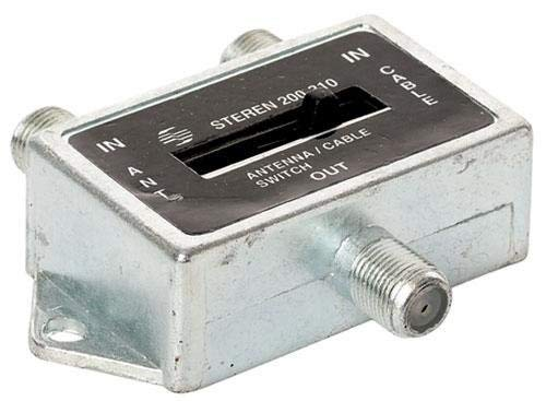 - Steren 2-Way Coaxial A/B Slide Switch