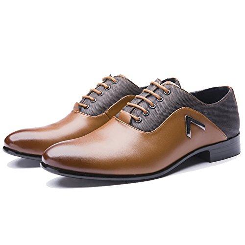Blivener Chaussures à Lacets Homme Jaune h6z71lhPup