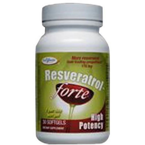 Enzymatic Therapy Resveratrol-Forte High Potency 30 softgels ( Pack of 12)