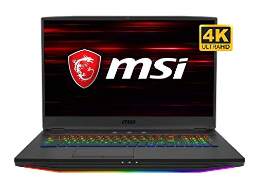 MSI NB GT76 Titan DT 10SGS-055 Gaming and Entertainment Laptop (Intel i9-10900K 10-Core, 64GB RAM, 2x2TB PCIe SSD RAID 1 (2TB) + 1TB HDD, NVIDIA RTX 2080 Super, Win 10 Pro) with USB Hub