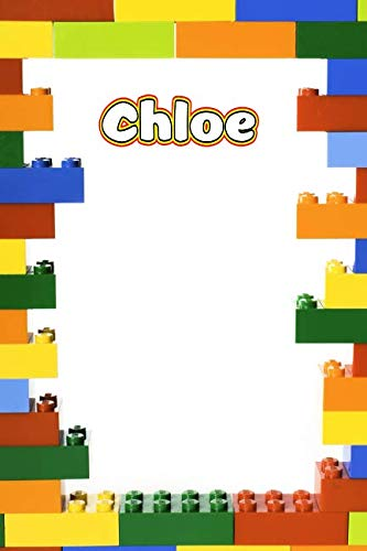 Chloe: Building Brick Blank Comic Book Notebook Journal book 120 pages 6