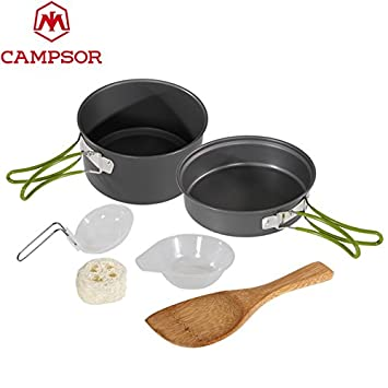 Camping & Hiking Campcookingsupplies Portable Outdoor Cookware Aluminum Non-stick Pot Cooking Frying Pan Camping Picnic Hiking Utensils With Carry Bag Big Size Elegant In Style