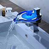 LightInTheBox Sprinkle – Color Changing LED Waterfall Bathroom Sink Faucet (Unique Design) Picture