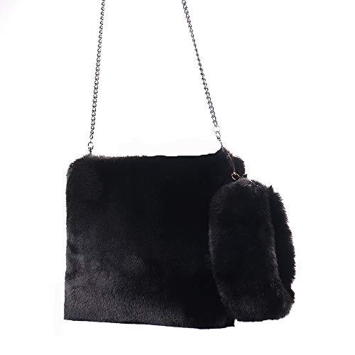Handbag Bag Black Warm Smal Tote Women Bag JERFER Winter Soft qwC88B