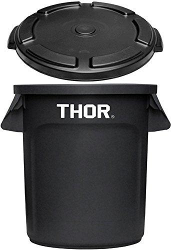 トラスト ソーラウンドコンテナ 38L Trust THOR Round Container [ ブラック / フタ付き ] B078NVT2Q4