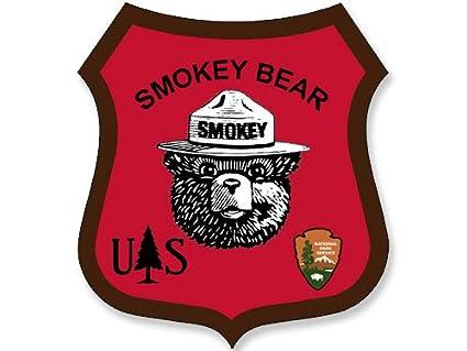 Amazoncom American Vinyl Red Shield Shaped Smokey Bear Sticker