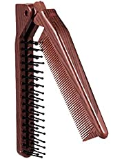 Hair Comb Portable Travel Hair Brush Hair Comb Plastic Folding Detangling Anti-static Hair Brush