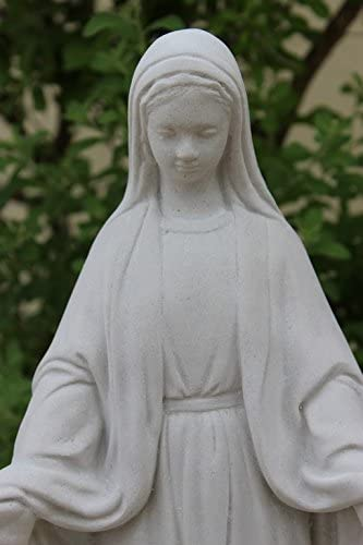 Virgin Mary Concrete Statue Bless Mother Yard Art New 17.5″ HT/Tall