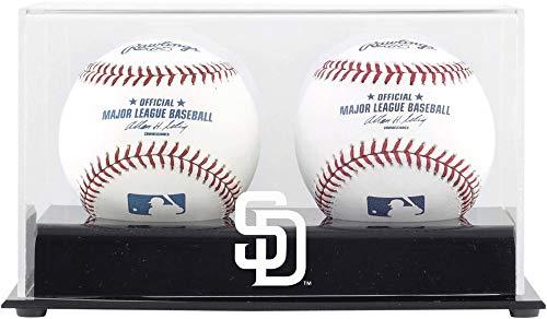 San Diego Padres Two Baseball Cube Logo Display Case
