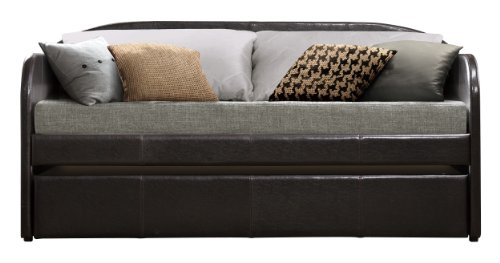 Homelegance 4950 Daybed with Trundle, Dark Brown Bi-Cast Vinyl