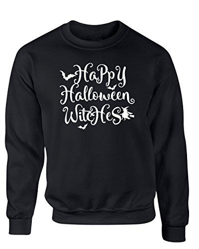 [Funny Halloween Costume Happy Halloween Witches Men's Sweater Black XX-Large] (Brazilian Costume Ideas For Men)