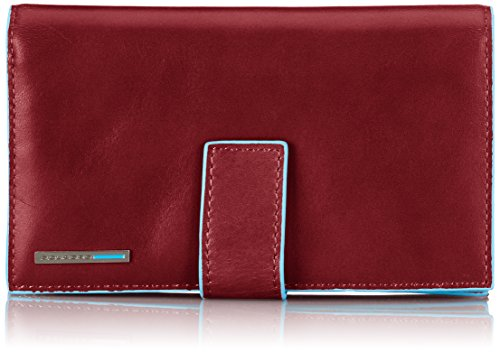 Piquadro Lady's Wallet In Leather, Red, One Size by Piquadro
