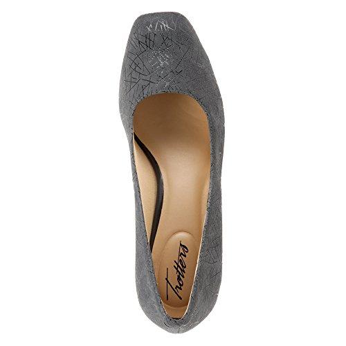 Dark Womens Grey Lola Classic Pumps Toe Trotters Closed Graphic 7AqwYA