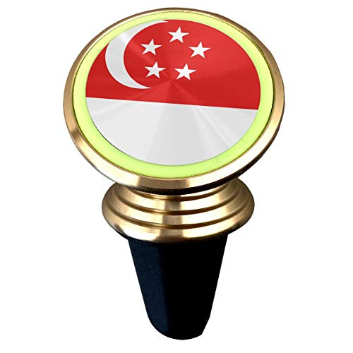 (X-JUSEN Singapore Flag Universal Twist-Lock Air Vent Magnetic Car Mount Holder, Luminous Deluxe Car Mobile Bracket, Magnetic Mounts 360 Degree Rotation from Dashboard)