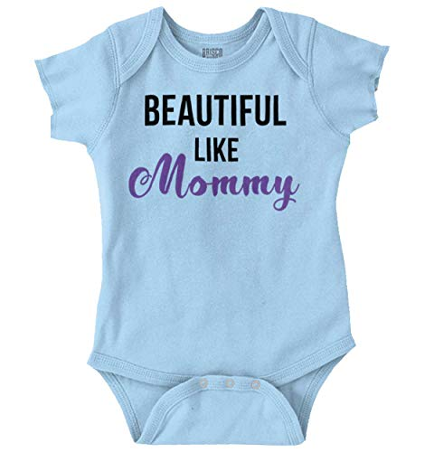 Beautiful Like Mommy Cute Mom Mothers Day Romper Bodysuit Light Blue