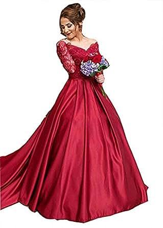 Dresshine Women's Sheer Off Shoulder V-Neck Long Sleeve