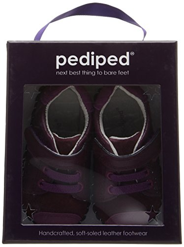 PediPed Jake - Mocasines para Bebés que ya se tienen de pie Niñas Red (Berry)