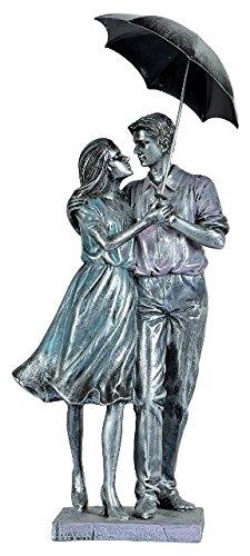 Romantic Couple Poly Resin figurine with Umbrella Symbol of Love valentine Gift