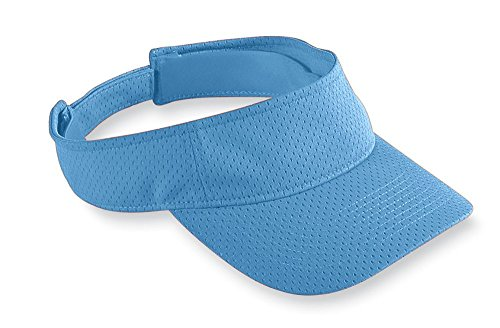 Augusta Sportswear Athletic mesh Visor, Columbia Blue, One Size