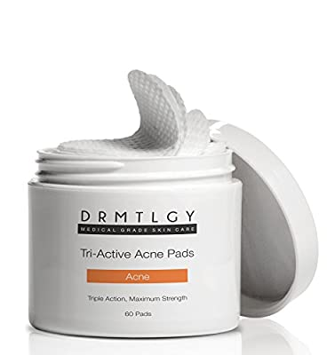 Dermatologist Recommended Acne Pads. 3-in-1 Acne Treatment With Three Active Ingredients: Salicylic Acid, Glycolic Acid, Lactic Acid. Alcohol-Free For Face And Body Acne