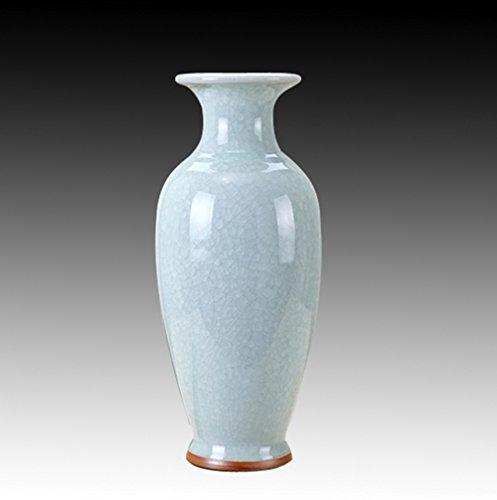 (QARYYQ Jingdezhen Ceramic Vase Living Room Vase Decoration 钧 Kiln Vase Antique Opening Ice Porcelain Guanyin Gift Crafts (Color : D))