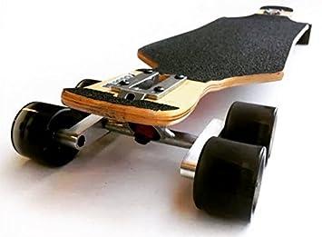CNC plata Tandem eje rueda Kit Set para monopatín longboard cruiser Penny camión: Amazon.es: Deportes y aire libre