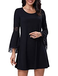 Women's Casual Round Neck Loose A Line Tunic Dress Long...