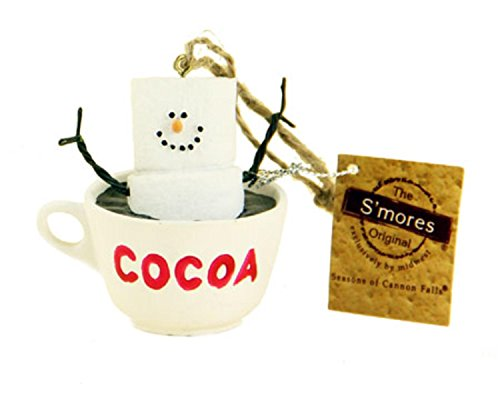 allow Character in a Hot Cocoa Mug Decorative Christmas Ornament (Marshmallow Ornament)