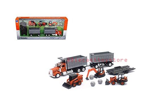 NewRay New Ray Kubota Construction Equipment and Kenworth Dump Truck Playset Diecast Vehicle - Diecast Dump