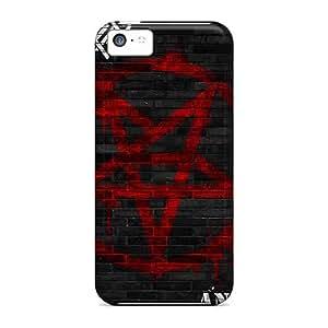 Durable Hard Phone Cases For Iphone 5c With Provide Private Custom Trendy Guns N Roses Series LauraAdamicska
