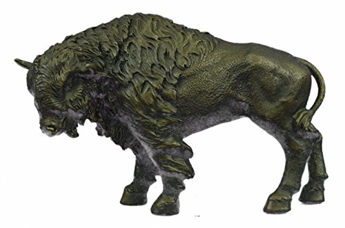 Art Deco Bronze Statue - Handmade European Bronze Sculpture American Buffalo Bull Bison Western Artwork Art Deco Bronze Statue -UKYDW-124-Decor Collectible Gift