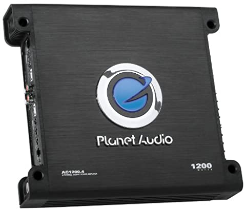 Planet Audio AC1200.4 Anarchy 1200 Watt, 4 Channel, 2/8 Ohm Stable Class A/B, Full Range, Bridgeable, MOSFET Car (98 Cherokee Stereo Alpine)