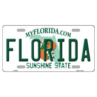 Smart Blonde LP-6005 Florida Novelty Metal License Plate: Sports & Outdoors