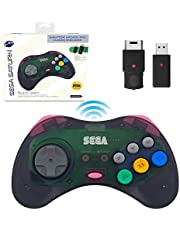 Sega Saturn Slate Grey 8-Button 2.4 GHz Wireless Arcade Pad [Retro-Bit]