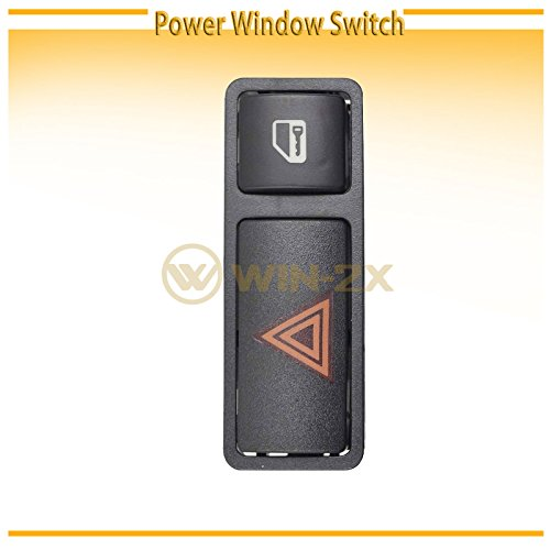 WIN-2X New 1pc Black Housing Central Hazard Flasher Warning & Door Lock Switch Fit BMW 99-06 E46 3-Series/M3 00-06 E53 X5 03-08 E85 Z4
