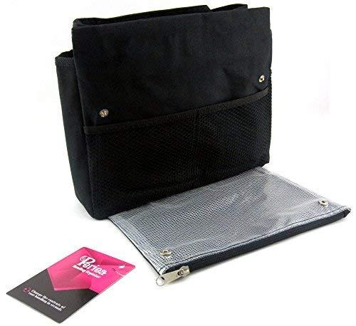 Periea Black Large Organiser Compartments Handbag Handbag Periea 7 Tera aSPzxSw1q5